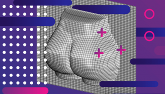 Representación vectorial del culo de Kim Kardashian