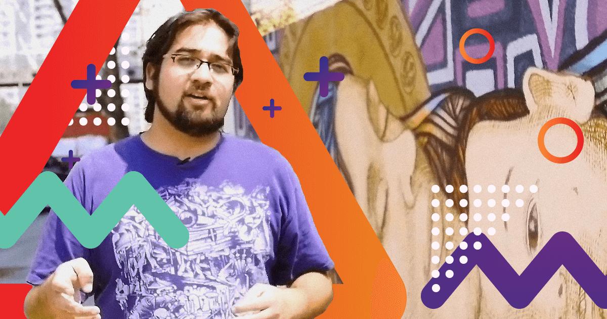 Henruz, grafitero y profesor de arte