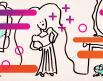 Ilustración de línea de Rapunzel